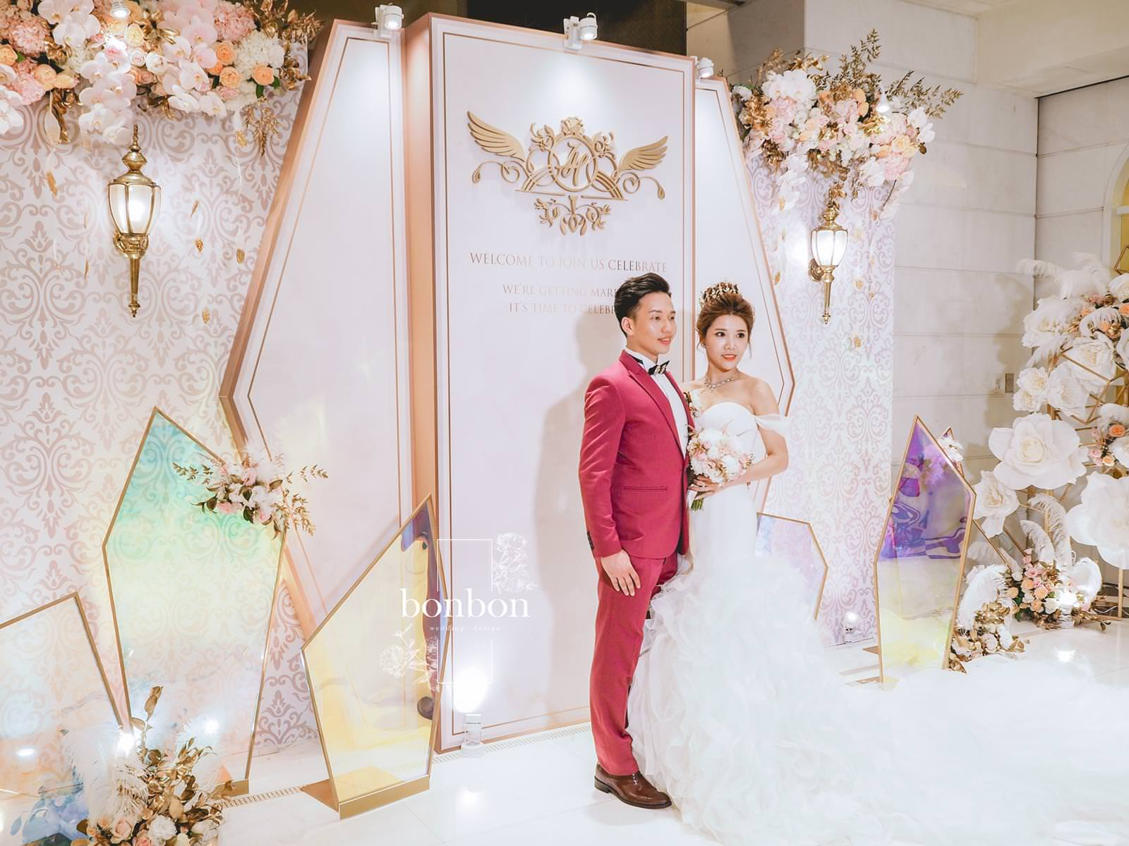 [花婚嫁]一眼驚豔。復古奢華的婚禮佈置。bonbon-wedding。婚禮佈置推薦
