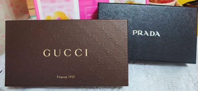 [花閃光]握在手裡都覺得快樂的禮物。Prada & Gucci皮夾